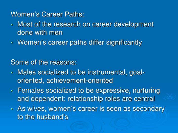 Women's Career Paths: