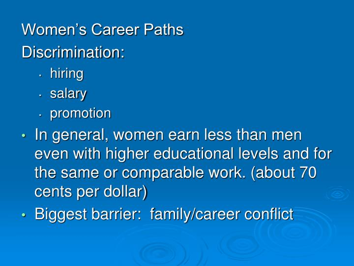 Women's Career Paths