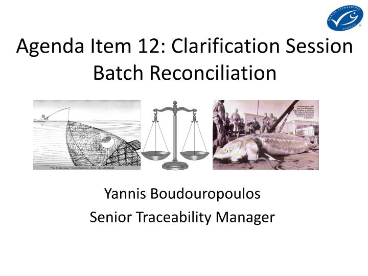 Agenda Item 12: Clarification Session