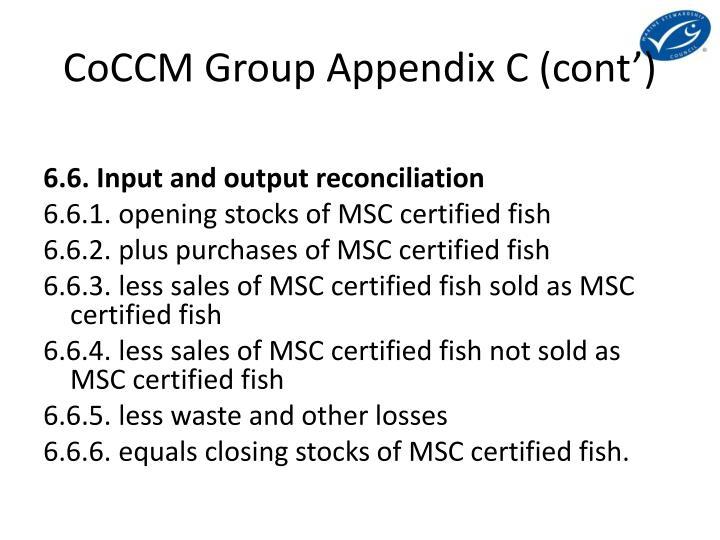 CoCCM Group Appendix C (cont')