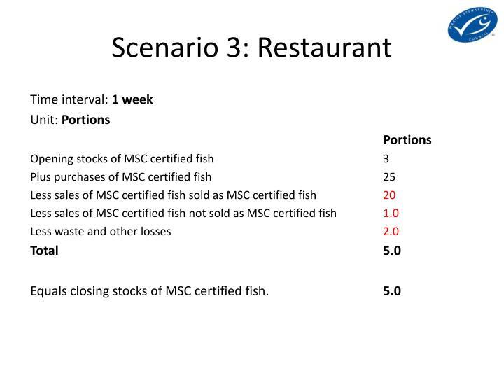 Scenario 3: Restaurant