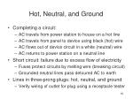 hot neutral and ground