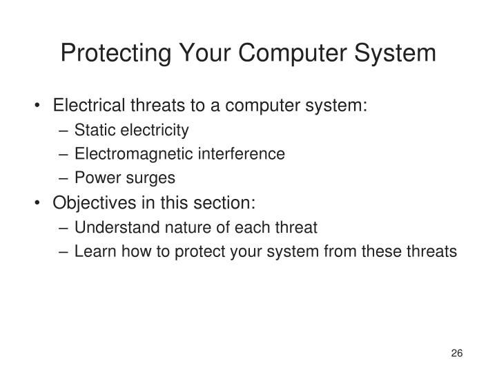 Protecting Your Computer System