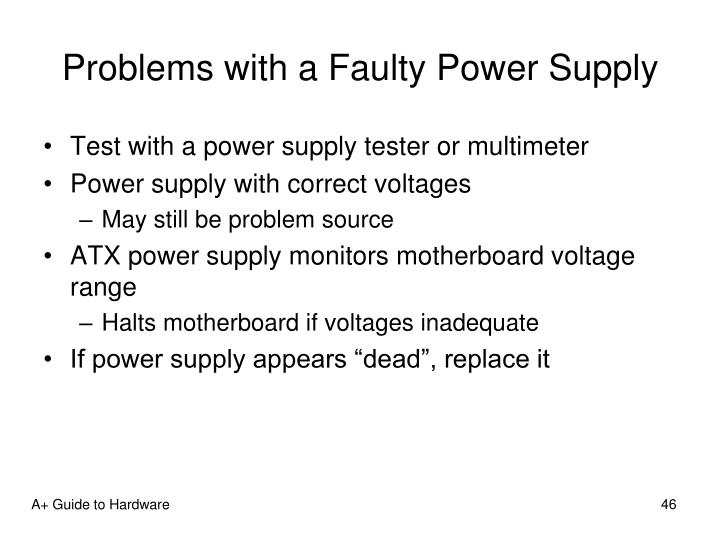 Problems with a Faulty Power Supply