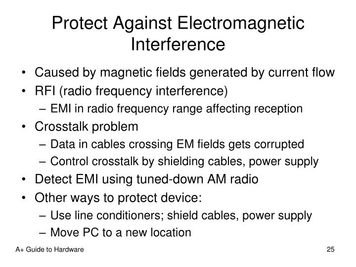 Protect Against Electromagnetic Interference