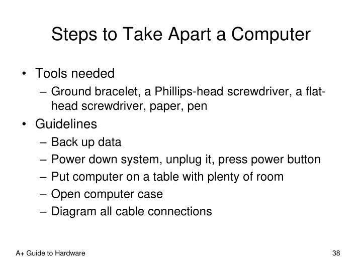 Steps to Take Apart a Computer