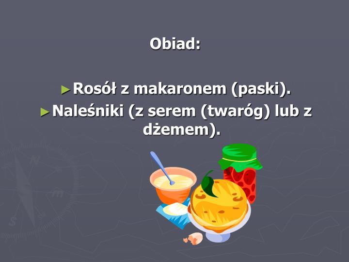 Obiad: