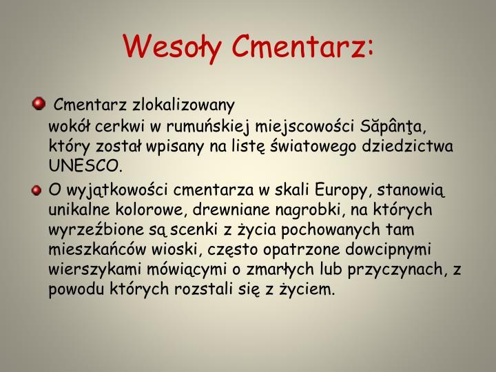 Wesoły Cmentarz: