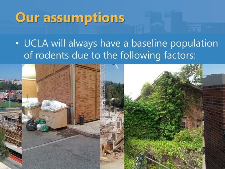 Our assumptions