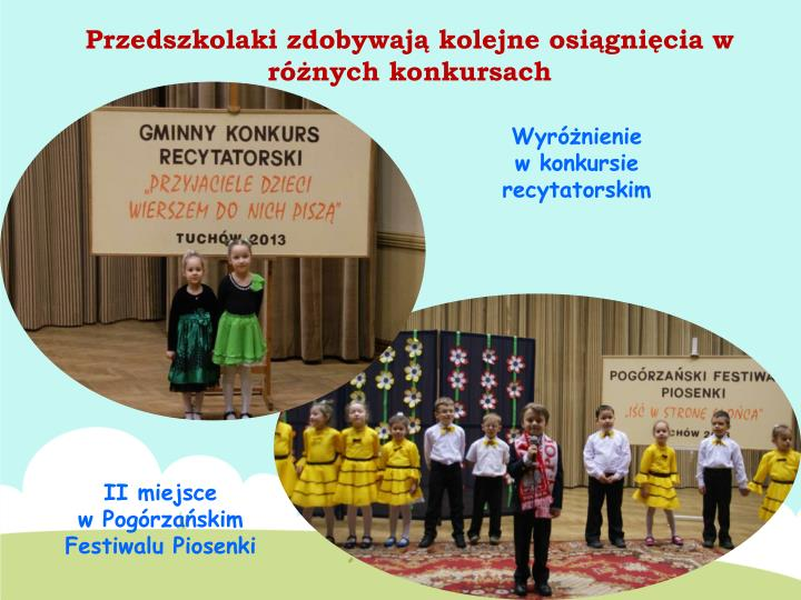 Przedszkolaki zdobywają kolejne osiągnięcia w różnych konkursach