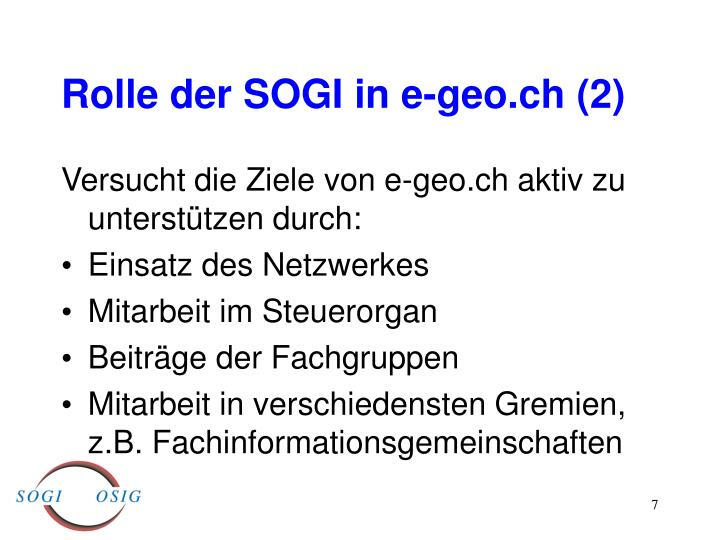 Rolle der SOGI in e-geo.ch (2)