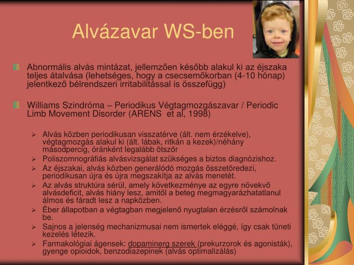 Alvázavar WS-ben
