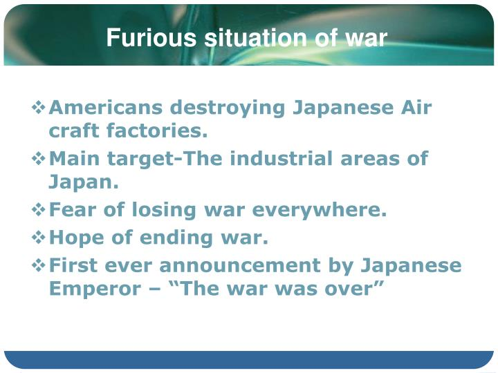 Furious situation of war