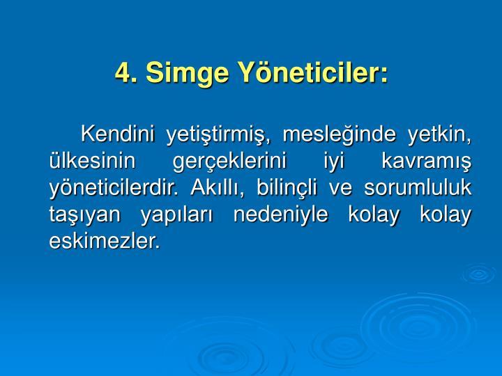 4. Simge Yneticiler: