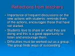 reflections from teachers