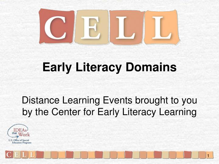 Early Literacy Domains