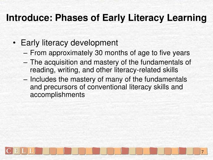 Introduce: Phases of Early Literacy Learning