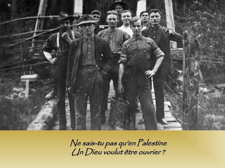 Ne sais-tu pas qu'en Palestine