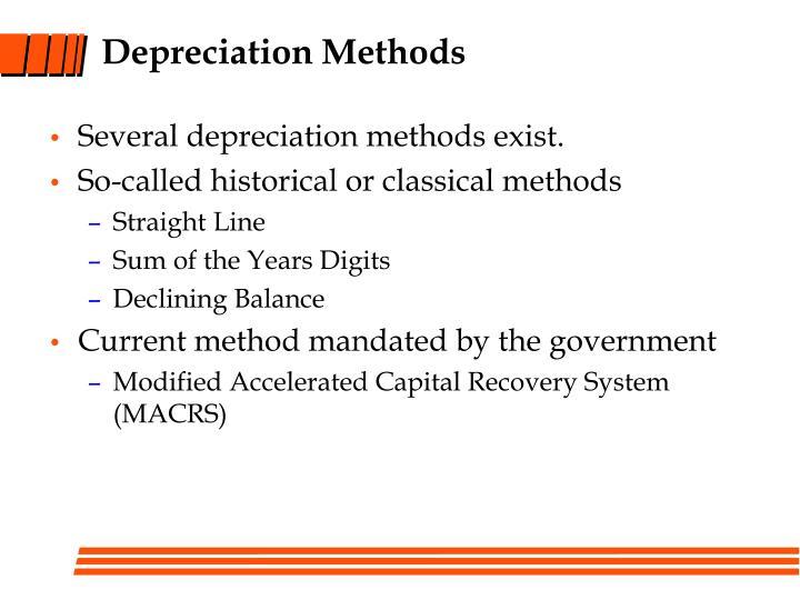 Depreciation Methods
