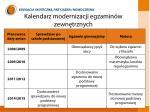 kalendarz modernizacji egzamin w zewn trznych