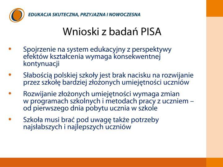 Wnioski z badań PISA
