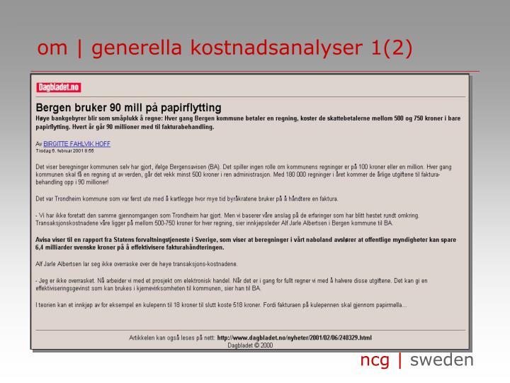 om | generella kostnadsanalyser 1(2)