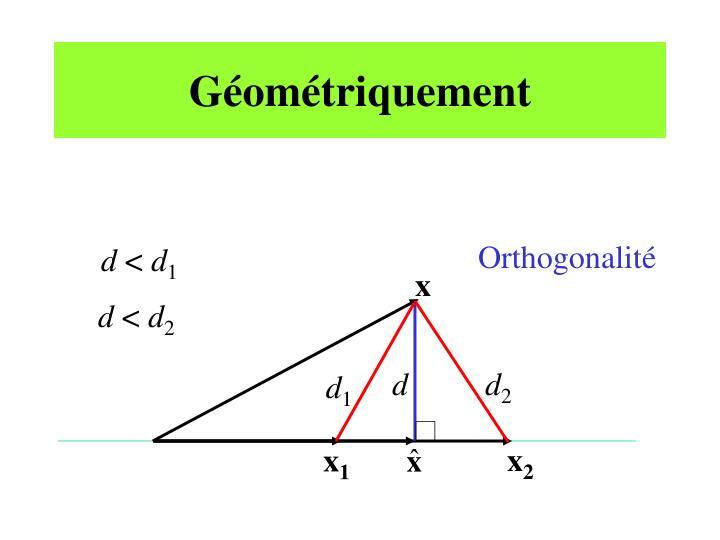 Géométriquement