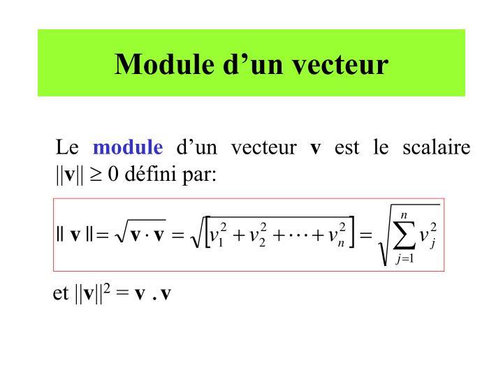 Module d'un vecteur