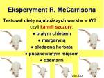eksperyment r mccarrisona