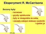 eksperyment r mccarrisona1