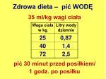 zdrowa dieta pi wod