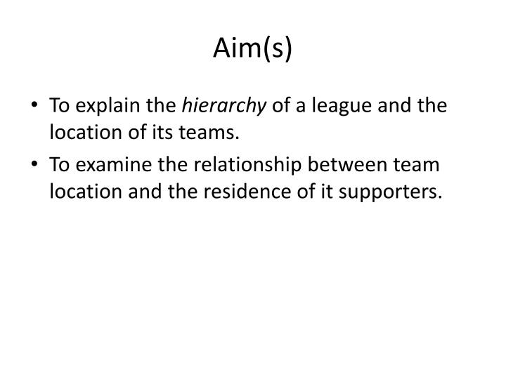 Aim(s)
