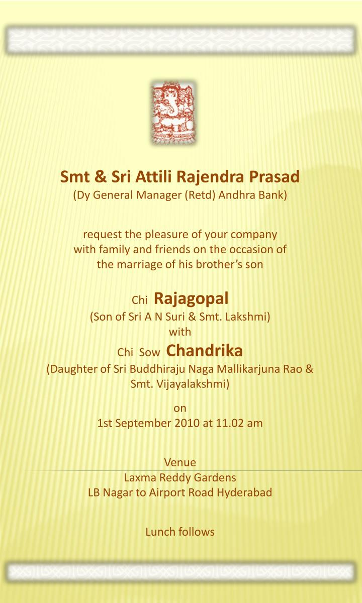 Smt & Sri Attili Rajendra Prasad