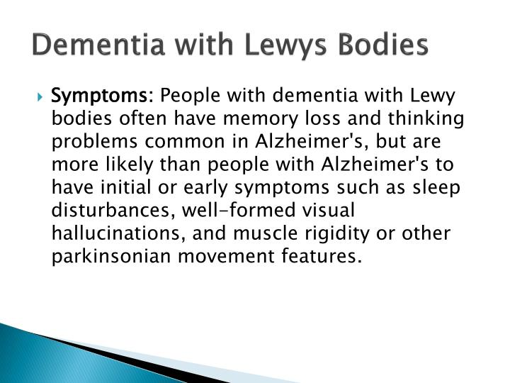 Dementia with Lewys Bodies
