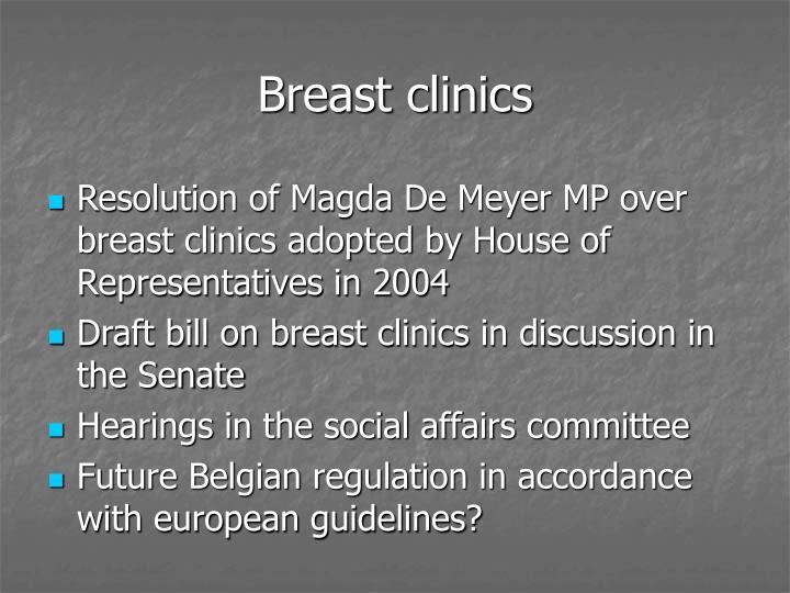 Breast clinics