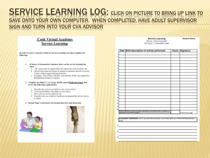 Service Learning Log: