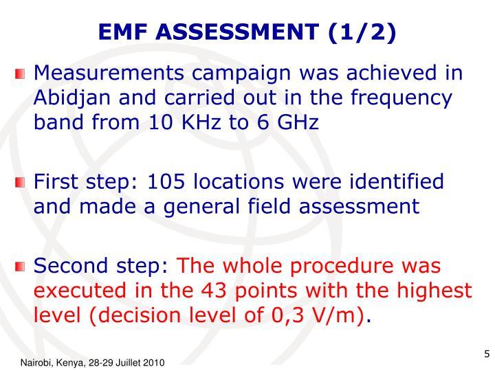 EMF ASSESSMENT (1/2)