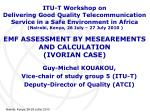emf assessment by mesearements and calculation ivorian case