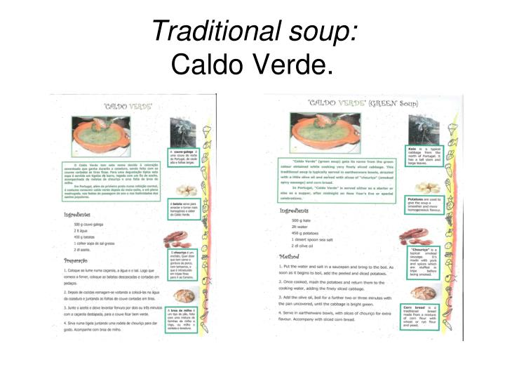 Traditional soup: