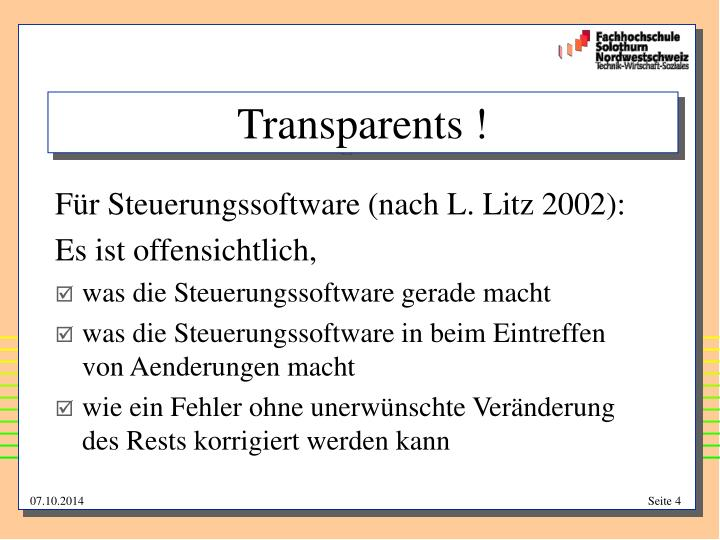 Transparents !