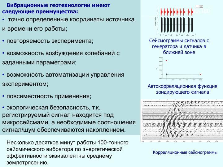 Вибрационные геотехнологии имеют следующие преимущества: