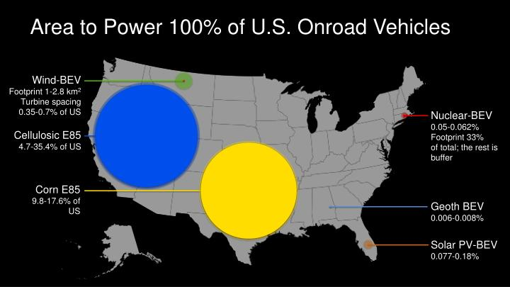 Area to Power 100% of U.S.