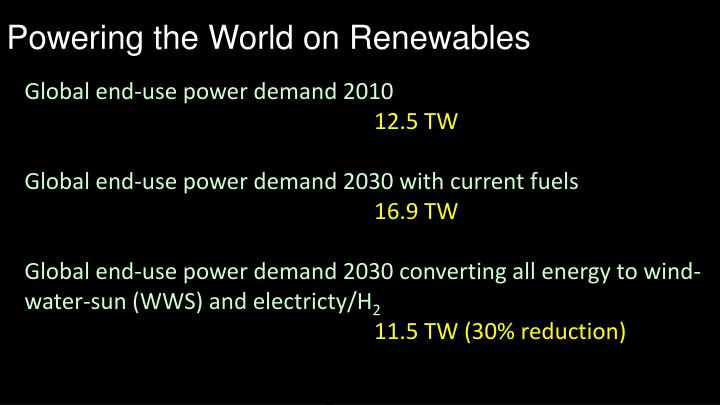 Powering the World on