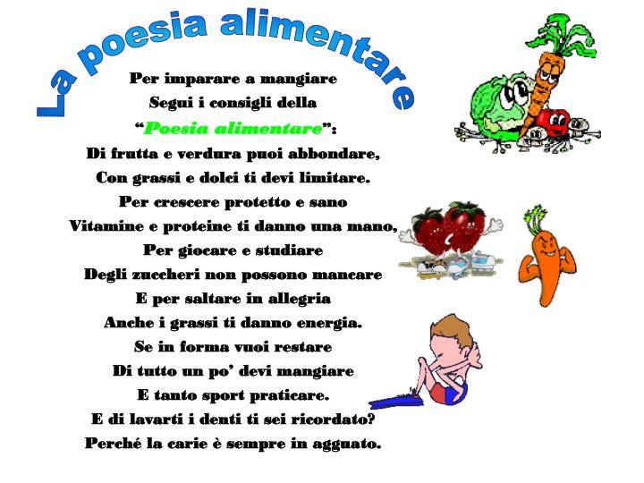 La poesia alimentare