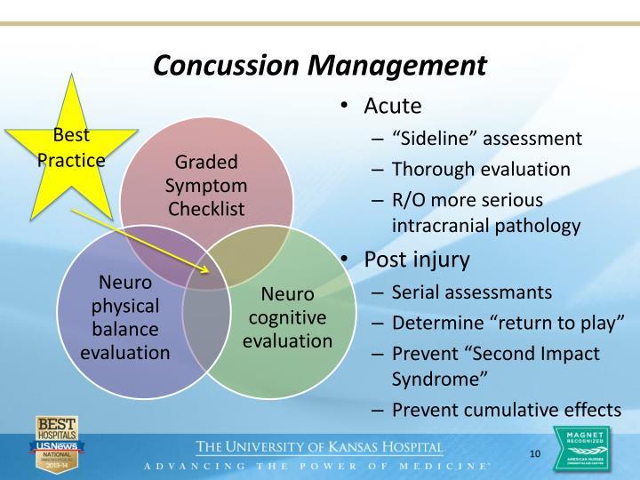 Concussion Management