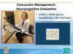 concussion management neurocognitive evaluation