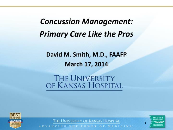 concussion management primary care like the pros david m smith m d faafp march 17 2014