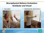 neurophysical balance evaluation vestibular and visual1