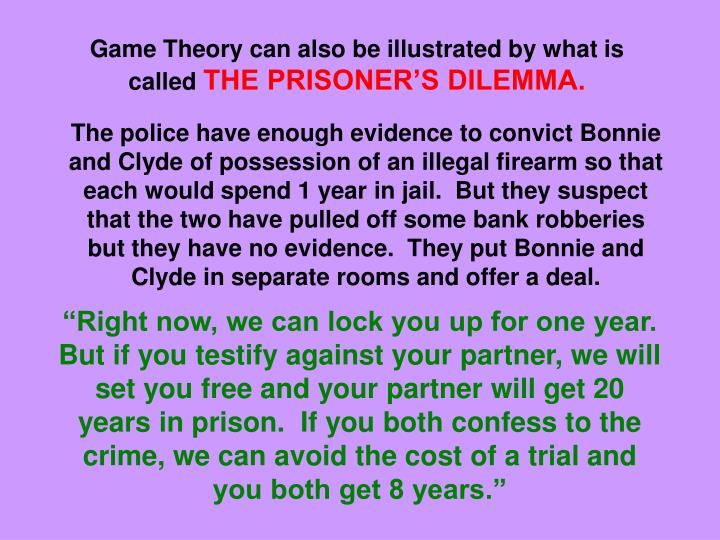 Game Theory can also be illustrated by what is called