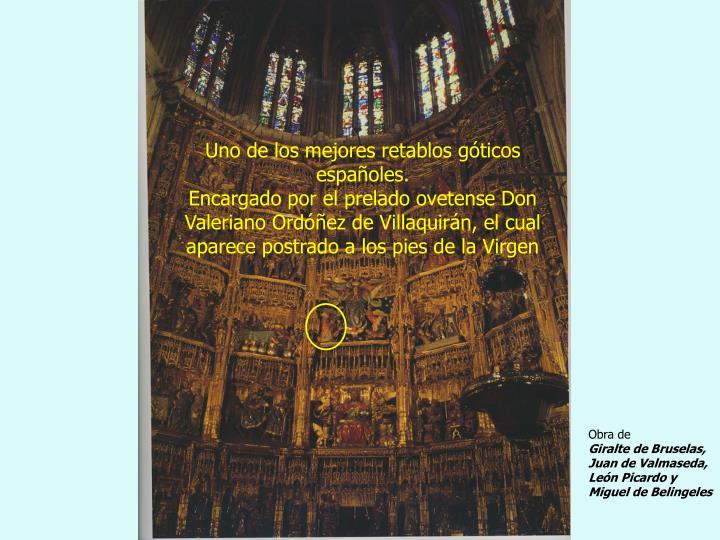Uno de los mejores retablos góticos españoles.